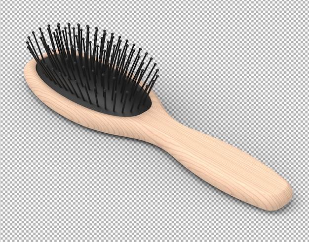 Cepillo de pelo 3d render aislado.