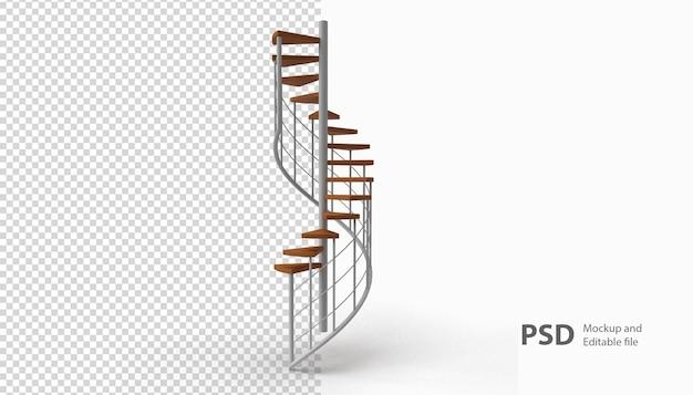Cerca de una escalera aislada de representación