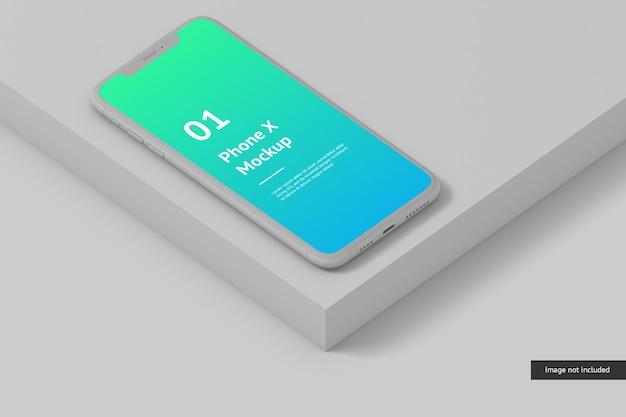 Cerca de la maqueta de la pantalla del teléfono inteligente