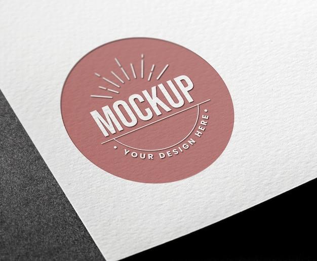 Cerchio biglietto da visita mock-up