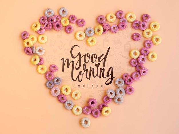 Cereales haciendo forma de corazón