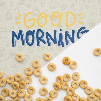 Cereales con mensaje de buenos días