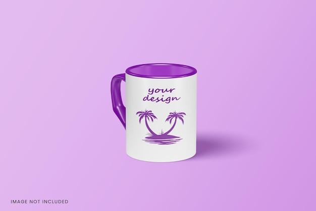 Cerrar en diseño de maqueta de taza aislado