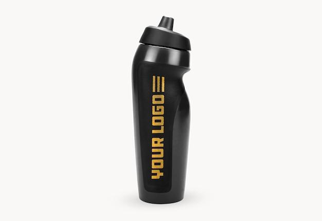 Cerrar en maqueta de botella deportiva de gimnasio aislado