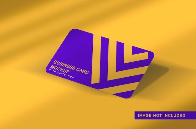 Cerrar en maqueta flotante de tarjeta de visita