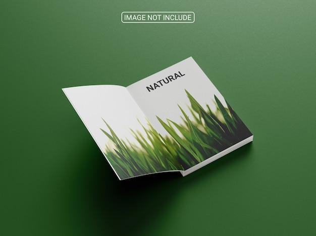 Cerrar en maqueta de libro de tapa dura aislado