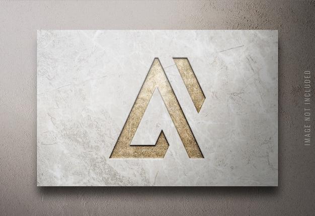 Cerrar en maqueta de logotipo de lujo