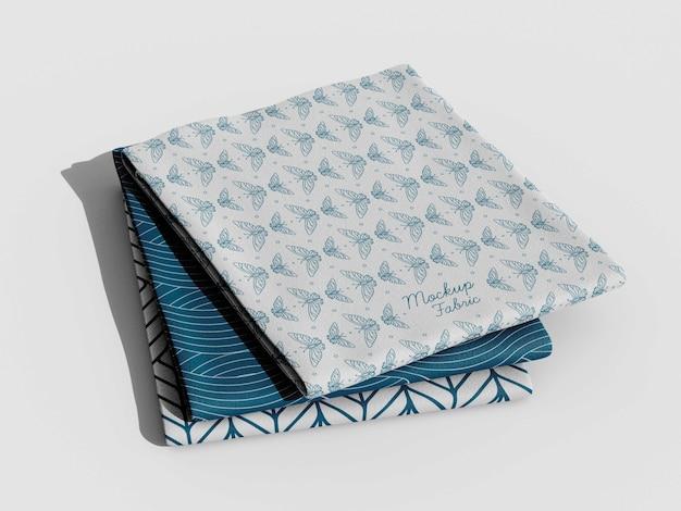 Cerrar en maqueta de material textil