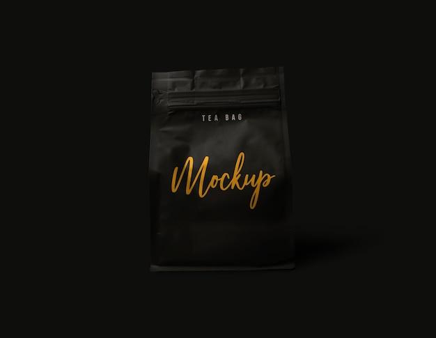 Cerrar en maqueta de paquete de café aislado