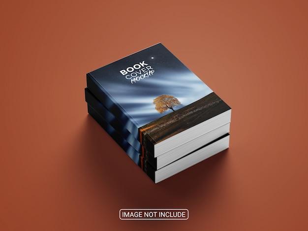Cerrar en maqueta de portada de libro realista