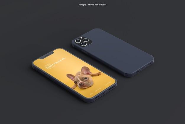Cerrar en maquetas de teléfonos inteligentes aislados