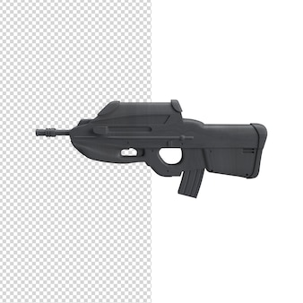 Cerrar en pistola psd premium aislado