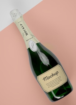 Champagnefles met mock-up