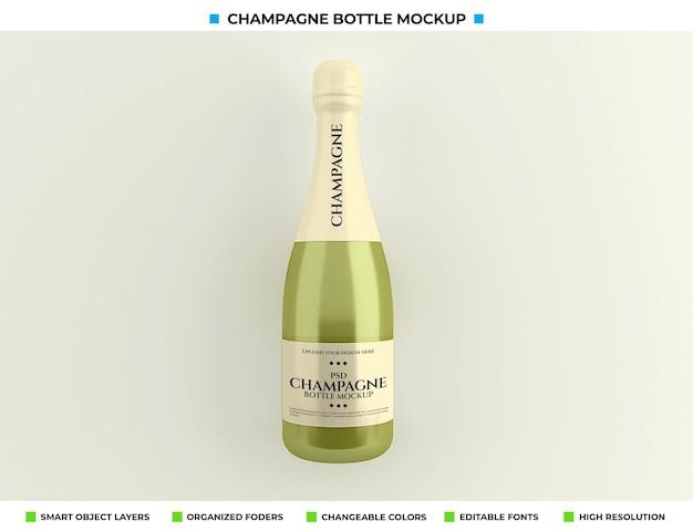Champagnefles mockup geïsoleerd