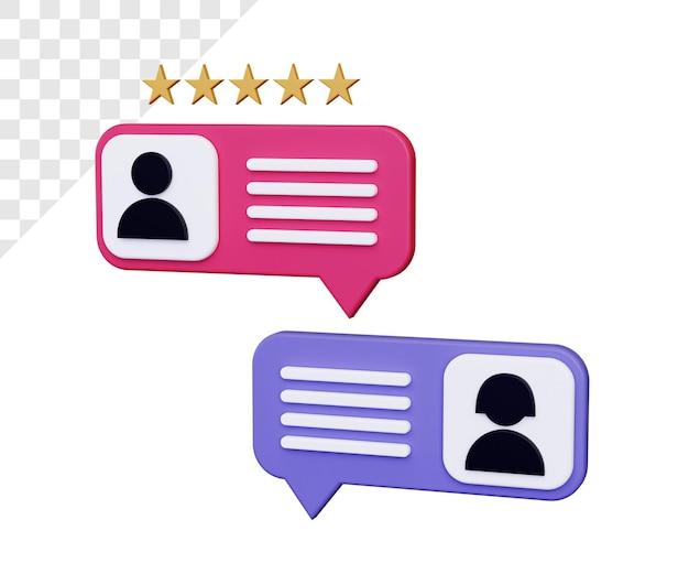 Chat en línea 3d con calificación de estrellas