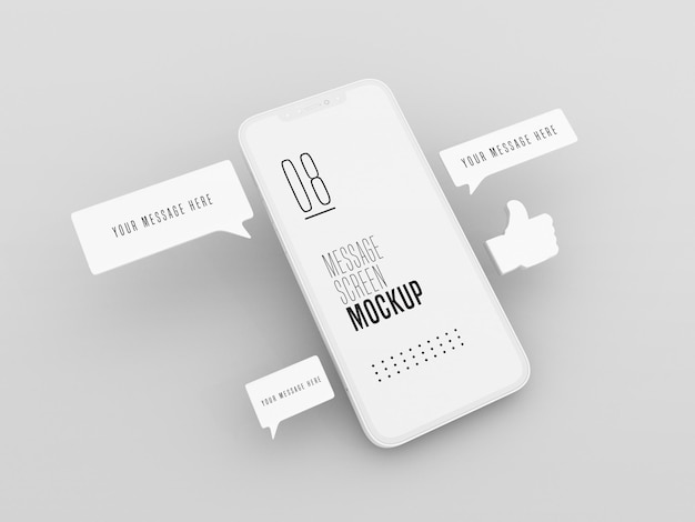 Chatberichtengesprek op mobiele telefoonmodel
