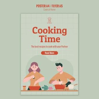 Chef-kok thuis flyer stijl