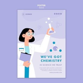 Chemie onderzoek poster sjabloon