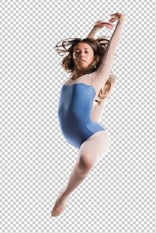Chica adolescente bailarina saltando