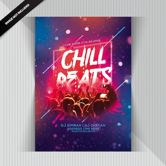 Chill beats party flyer
