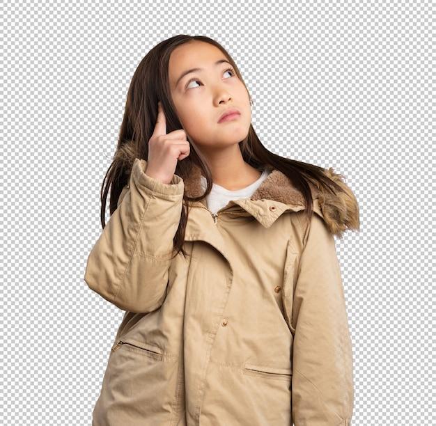 Chinees meisje denken
