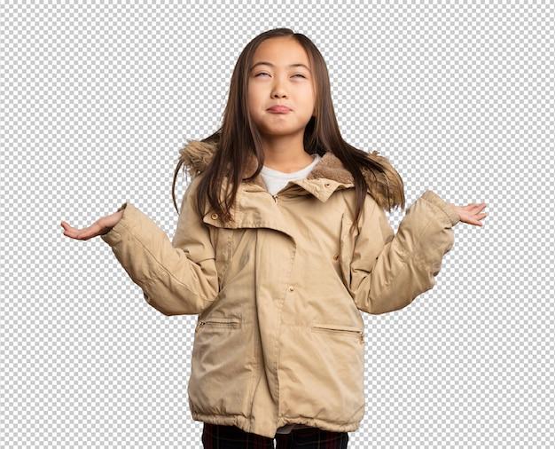 Chinees meisje twijfelt