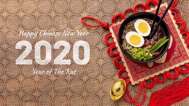 Chinees nieuw jaarconcept met model