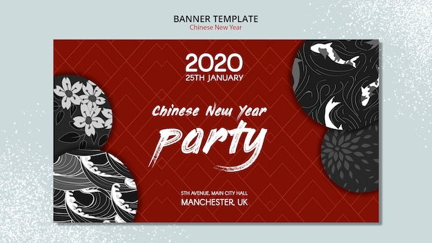 Chinees nieuwjaar bannerontwerp