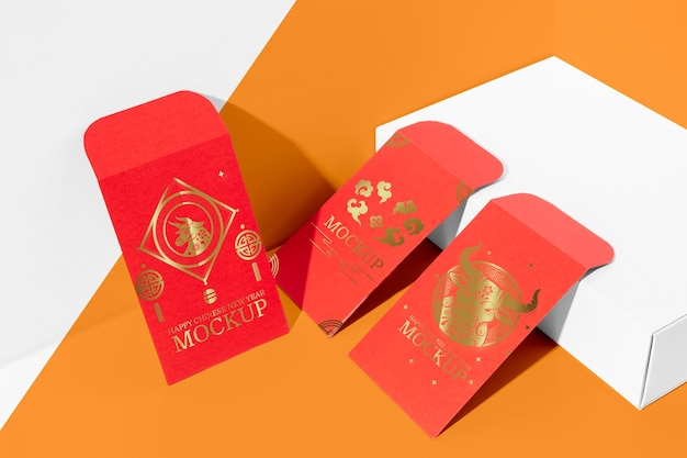 Chinees nieuwjaarsarrangement Gratis Psd