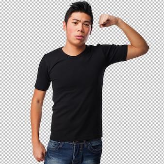 Chinese man doet een sterk gebaar