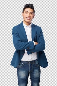 Chinese man kruising armen