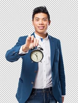 Chinese man met wekker