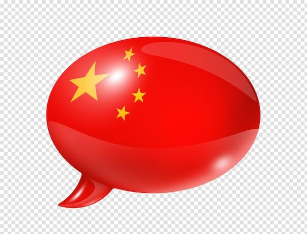 Chinese vlag tekstballon