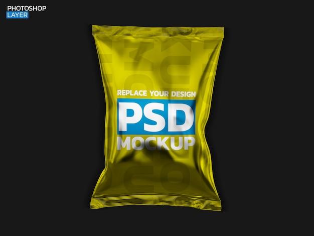 Chip bag 3d rendering