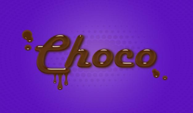 Choco-text-effect-psd
