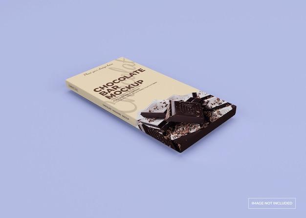 Chocolade doos verpakking mockup ontwerp geïsoleerd