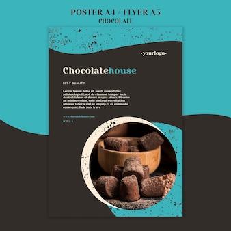 Chocolade huis poster sjabloon