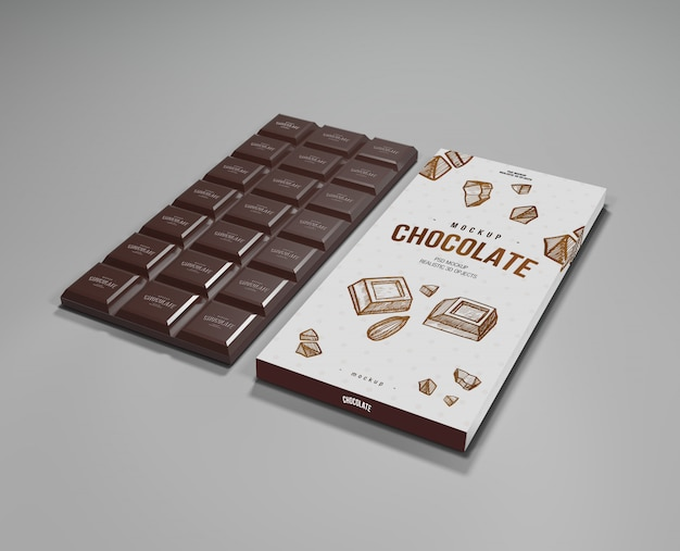 Chocolade mock up