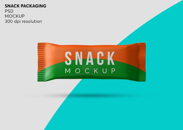 Chocolade snack bar verpakking mockup geïsoleerd