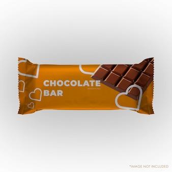Chocolade snack pakket mockup geïsoleerd