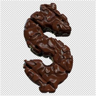 Chocolade symbolen onderaanzicht