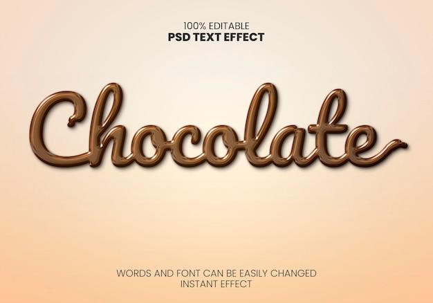 Chocolade teksteffect