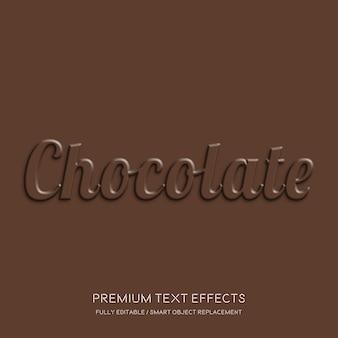Chocolade teksteffecten