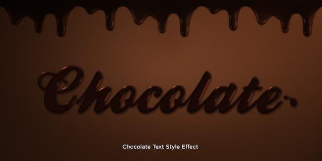 Chocolade tekststijl effect