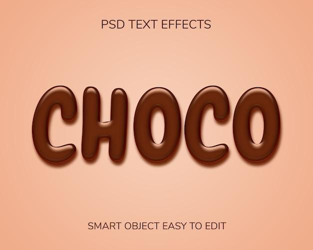 Chocolade tekststijleffect