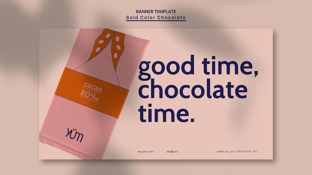 Chocolade winkel advertentie sjabloon voor spandoek