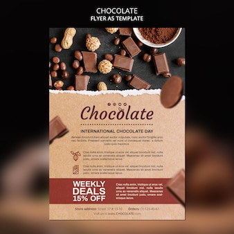 Chocolade winkel folder sjabloon