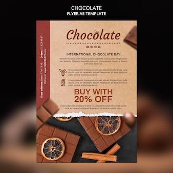 Chocolade winkel folder sjabloon Gratis Psd