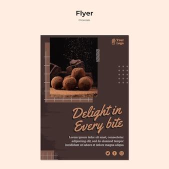 Chocolade winkel poster sjabloon