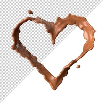 Chocolademelk splash 3d realistisch